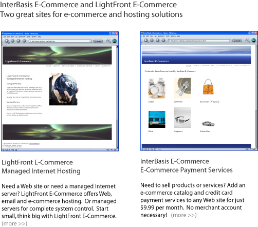 LightFront E-Commerce and InterBasis E-Commerce
